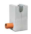 BIRCOsolid slot channel Profile 200/300 Outfall units In-line outfall unit with pipe support